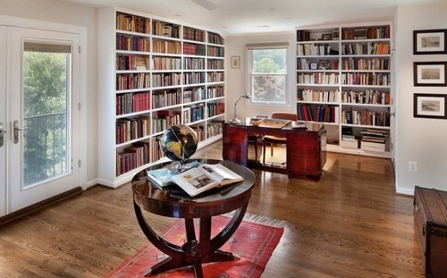 14-home-library-ideas-white-book-shelves