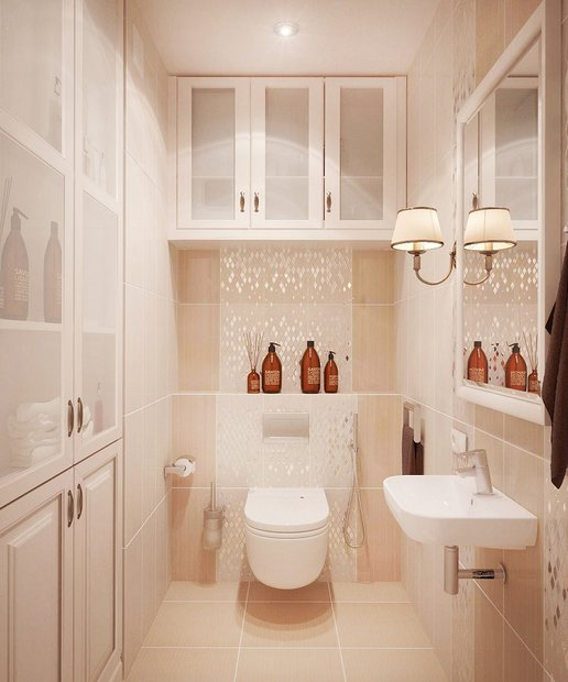 14-neo-classical-style-pastel-wall-mounted-suspended-toilet-beige-tiles-storage-in-toilet