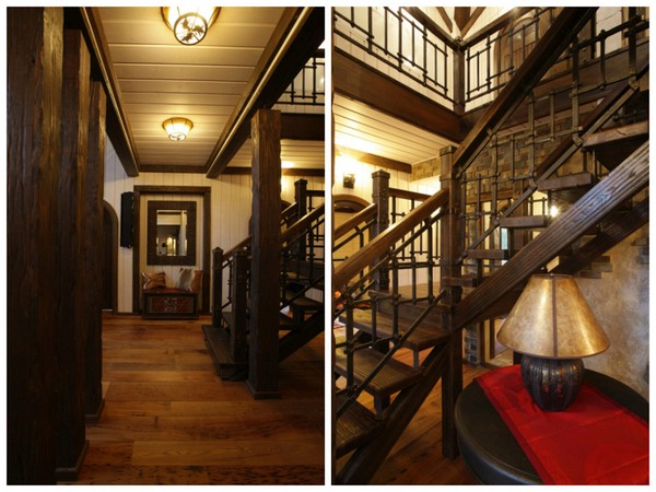 17-vintage-american-country-style-wooden-house-staircase