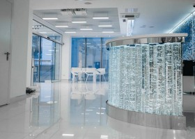 2-0-blue-and-white-modern-glossy-hospital-interior-air-bubble-composition-glossy-floor