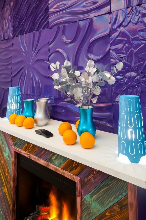 super bright dining room: purple, orange & blue | home interior