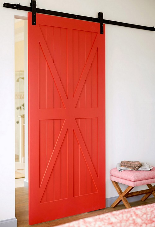 2-bright-red-barn-wooden-sliding-doors-in-interior-design