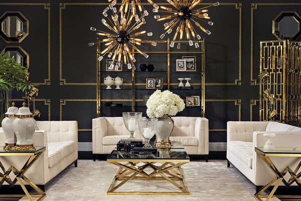 Black And Gold Living Room Designs