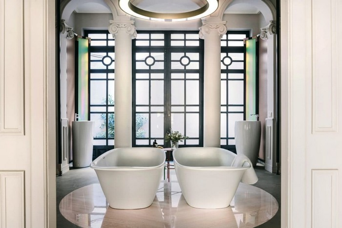 2 Laufen Bathroom Showroom Madrid Spain Designer Bath