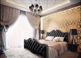 2-mirror-mirror-effect-wallpaper-bedroom-gorgeous-chic-interior
