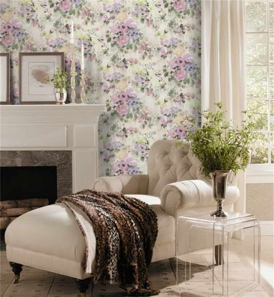2-paper-wallpaper-with-floral-pattern-in-living-room-interior-neo-classical-style-white-fireplace