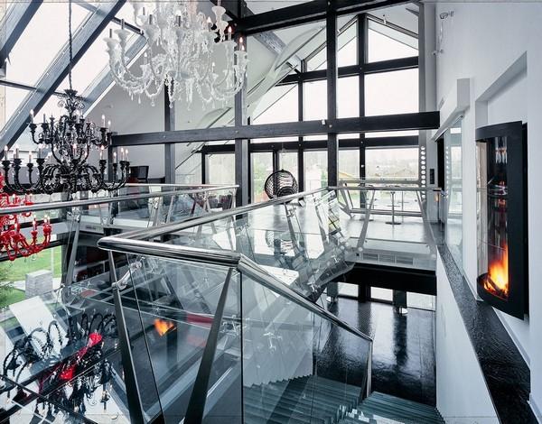 2-unusual-glass-house-panoramic-windows-skylights-console-staircase-beautiful-crystal-chandeliers-glass-bridge-fireplace