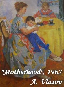 23-bentwood-chair-in-old-interior-soviet-painting-mother-with-child-on-her-knees-motherhood