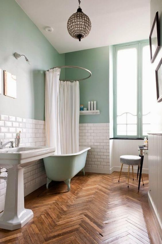 29-kale-color-bathroom-walls-green