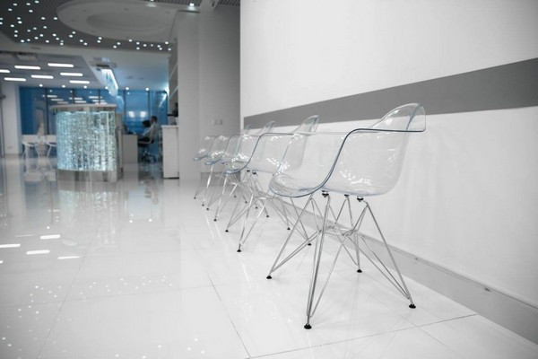 3-3-blue-and-white-modern-glossy-hospital-interior-halway-transparent-plastic-chairs