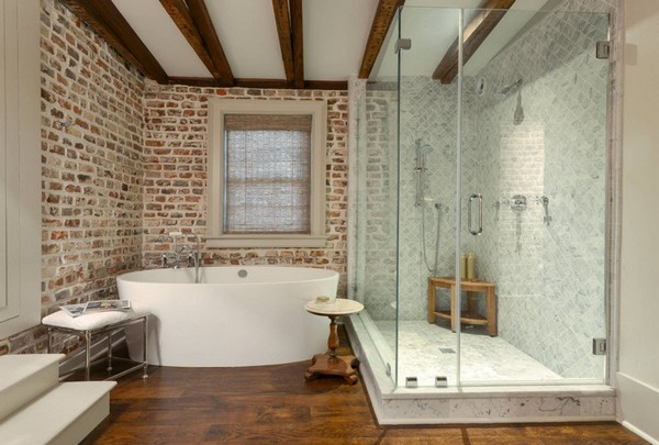 3-bathroom-interior-design-brick-wall-tiles-loft-style-modern-ceiling-beams