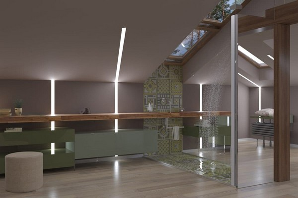 Naturalistic Attic Interior Design Home Interior Design Kitchen