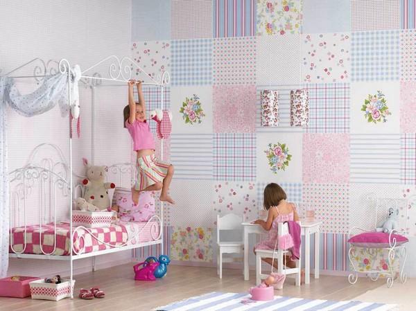 4 1 Patchwork Wallpaper In The Toddler Bedroom