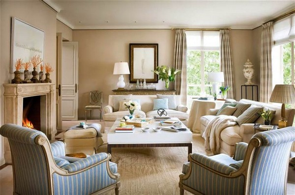 4-beige-interior-classical-living-room-stripy-blue-arm-chairs-fireplace
