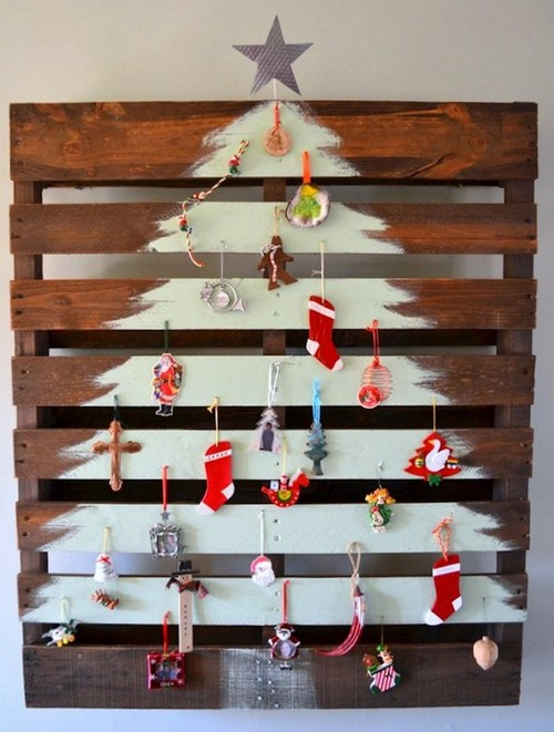 4 Diy Hand Made Wall Christmas Tree Painted