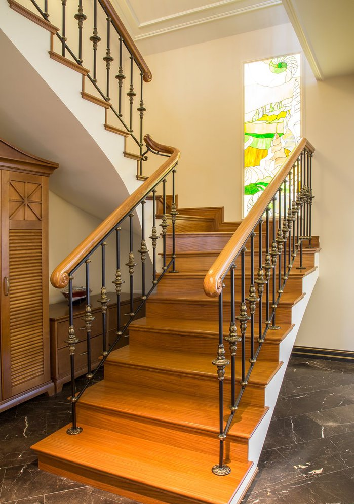 4_cr Forged Stair Railings Staircase Forged Stair Railings