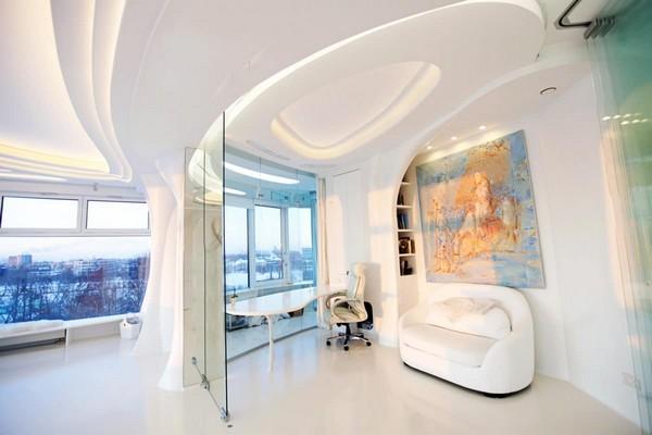 5 2 Total White Glossy Futuristic Style Interior