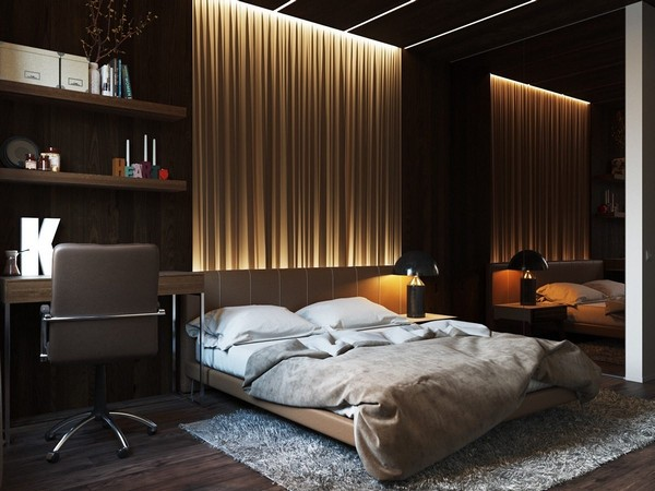 5-bedroom-lighting-headboard-zone-illumination-Vico-Magistretti-lamp-in-interior-design