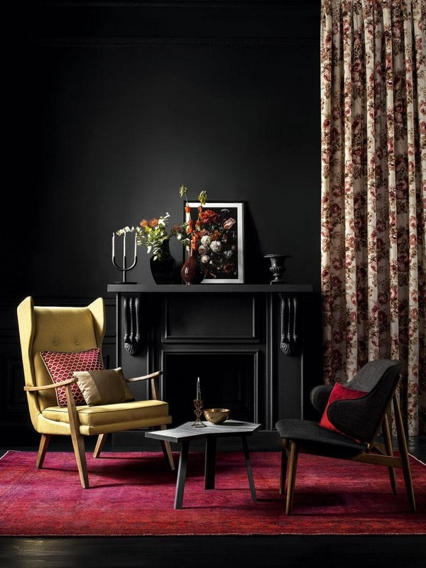 5-luxurious-designer-elegant-dark-home-textile-togas-nocturne-collection-upholstery-curtains-floral-pattern-decorative-couch-pillows-black-walls-in-interior-design-classical-style