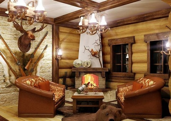 6-gun-room-hunters-room-interior-design-cozy-fireplace-sitting-set-arm-chiars-hunting-tropheys-bear-skin-on-the-floor