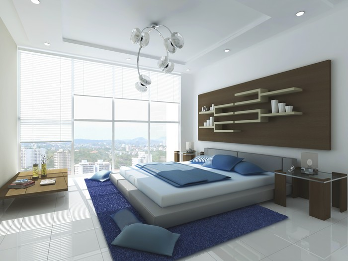 6-interior-for-choleric-white-and-blue-bedroom-french-windows-blue-carpet