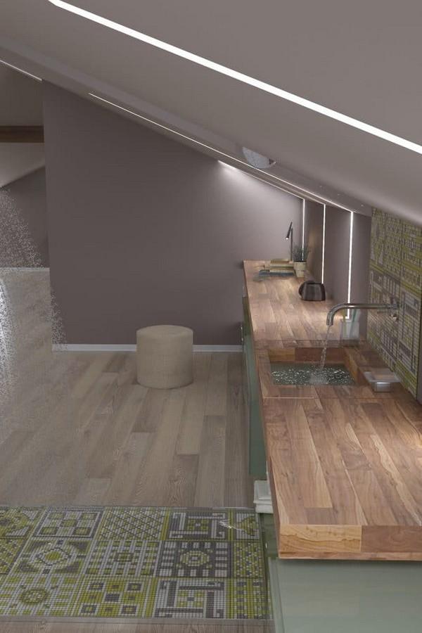 Naturalistic Attic Interior Design Home Interior Design
