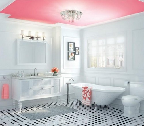 6-non-white-painted-colorful-pink-ceiling-in-the-white-bathroom