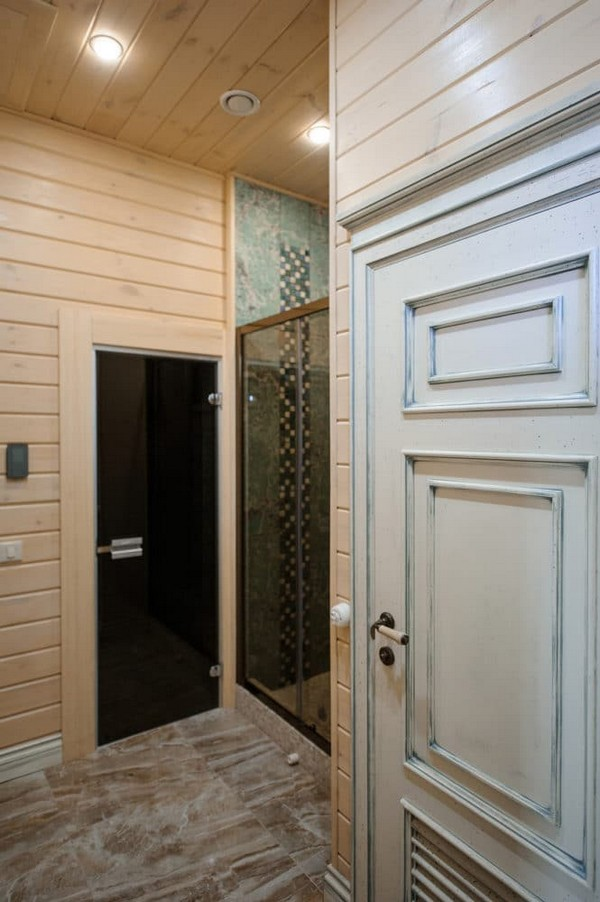 6-vintage-style-beige-and-turquoise-sauna-interior-aged-doors-wooden-walls