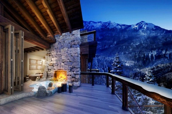 Gorgeous Spa Mansion In The Swiss Alps Home Interior