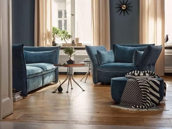 7-blue-velevt-Vitra-sofas-ottoman-scandinavian-style-living-room-interior