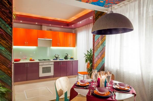 7 Bright Positive Interior Purple Orange White Living