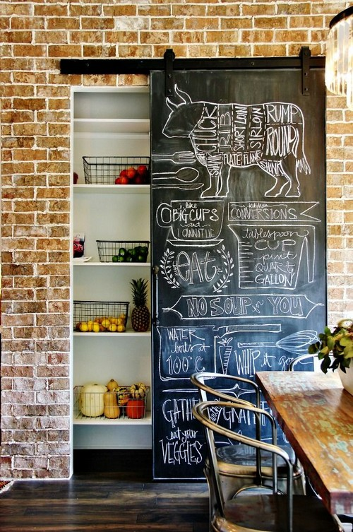 7-chalkbaord-sliding-doors-in-kitchen-interior-design