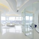 7-total-white-glossy-futuristic-style-interior-design-panoramic-windows-self-levelling-floor-columns-glass-interior-wall-partition-work-room-3D-ceiling