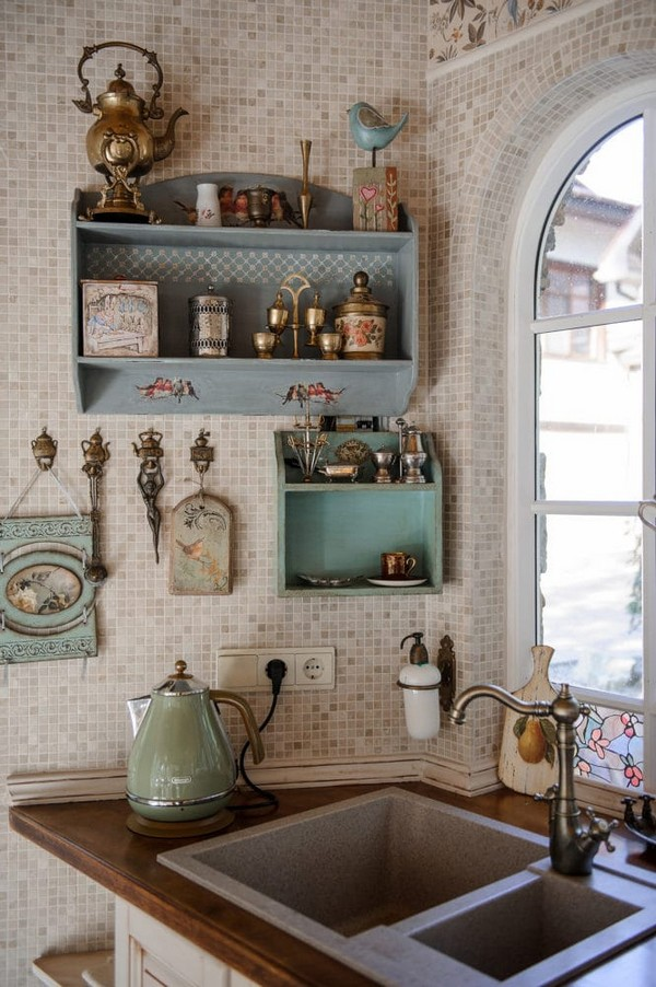 9-cozy-beige-and-turquoise-garden-gazebo-interior-design-summer-kitchen-dining-room-set-bay-windows-mosaic-tiles-retro-style-garden-view-vintage-tabelware-decor-brass-decoupage-furniture-shelves-stone-sink