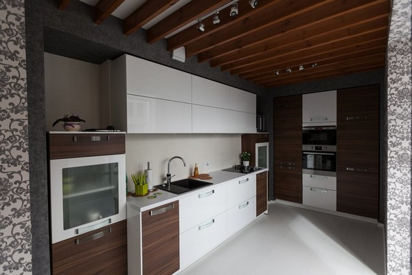 9-minimalistic-Scandinavian-style-apartment-white-walls-white-floor-brown-kitchen-set