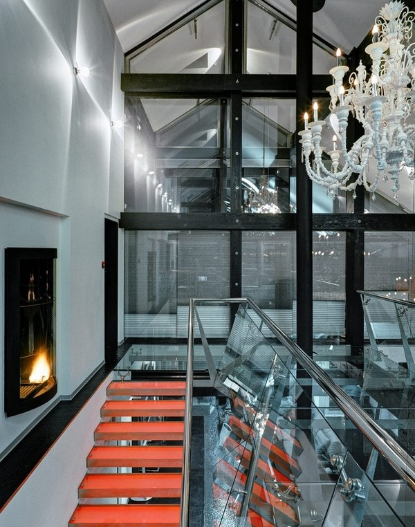 9-unusual-glass-house-panoramic-windows-skylights-red-console-staircase-beautiful-crystal-chandeliers-glass-bridge-fireplace