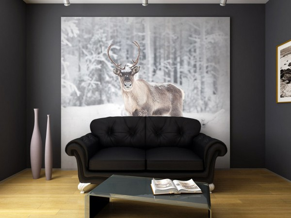 9-winter-alascan-deer-snow-photo-wallpaper-wall-mural-printing-in-interior-design