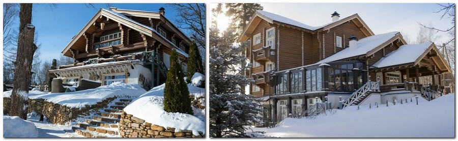 0-1-Russia-Seneshal-luxurious-hotel-exterior-design-timber-house-Provence-classical-style-winter-snow