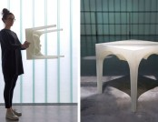 """Glacier"" Stool: 3D-Printed, Designer, Biodegradable"