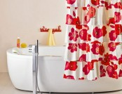 DIY: Bright Hand-Made Flamenco Shower Curtain