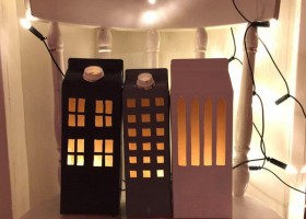 0-DIY-hand-made-Christmas-light-houses-milk-juice-cartons-re-use-ideas