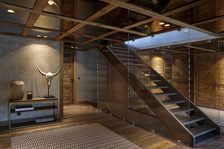 0-contemporary-chalet-style-interior-design-glass-wall-ceiling-wooden-beams-staircase-open-to-below-second-floor