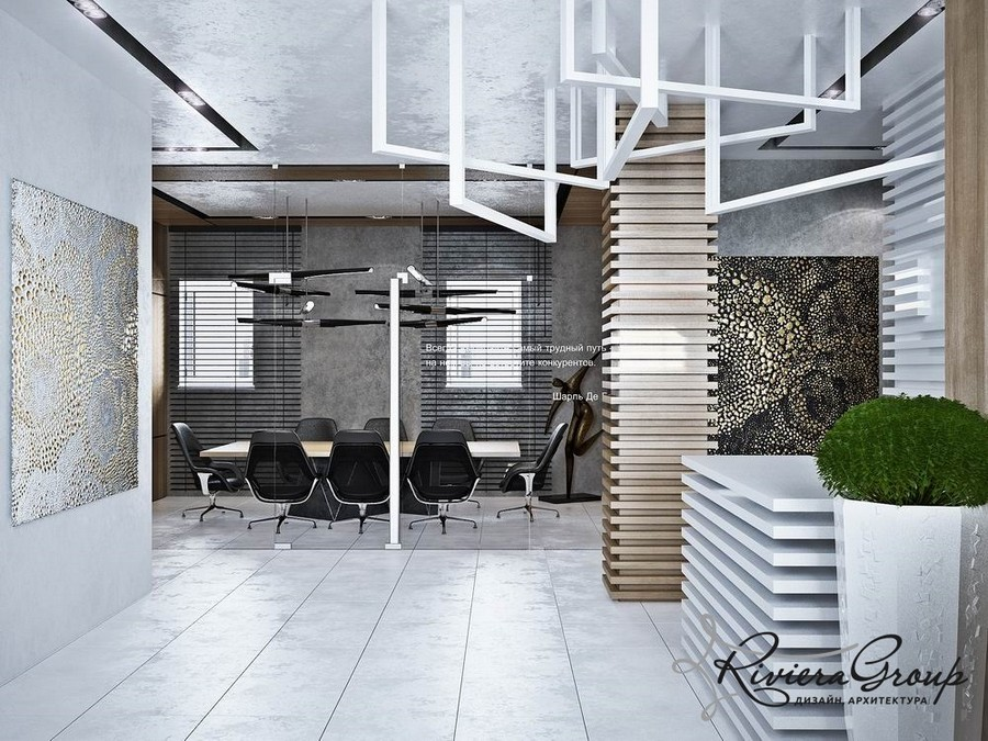0-eco-style-office-interior-design-project-render-meeting-room-white-gray-potted-plants-abstract-painting