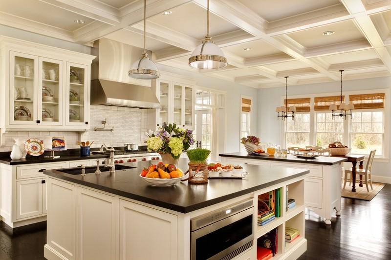 Epic  kitchen island white traditional style dark worktop