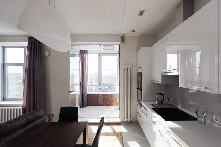 purple kitchen apartment. 0 light white beige and purple modern style  Light Modern Minimalist Apartment Graphite White Brown Home