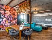 Mixed-Style Interior: Brutal Loft + Pop-Art + Eco-Style