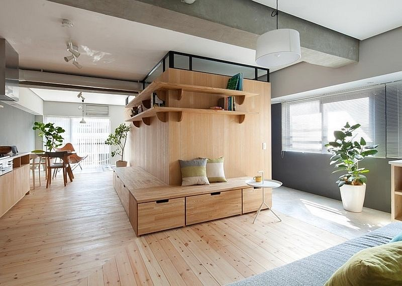 0 Totally Wooden Apartment With Unusual L Shaped
