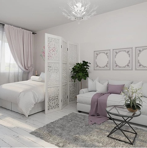 White Romantic Dream Apartment For Three Girls Home