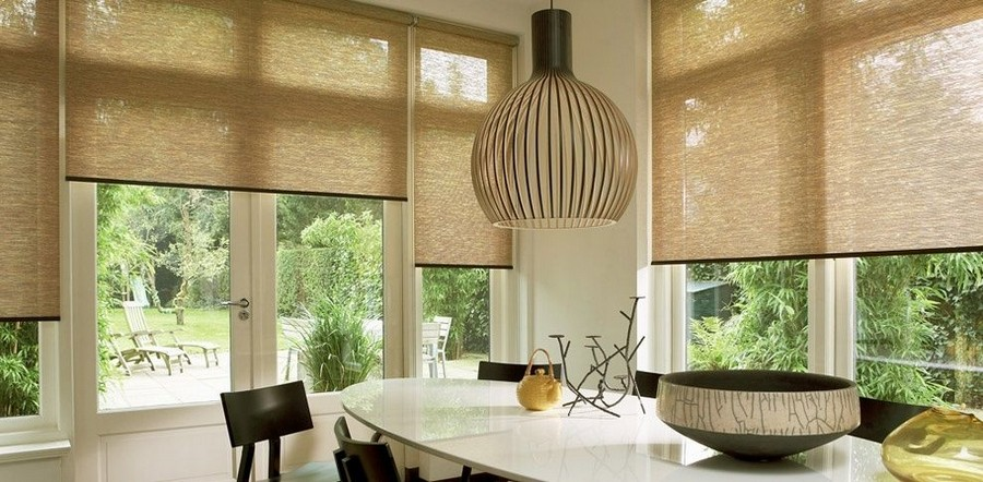 Epic  roller blinds in kitchen interior design