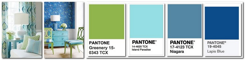 Top trend 2017 greenery color home interior design - 2017 pantone view home interiors palettes ...